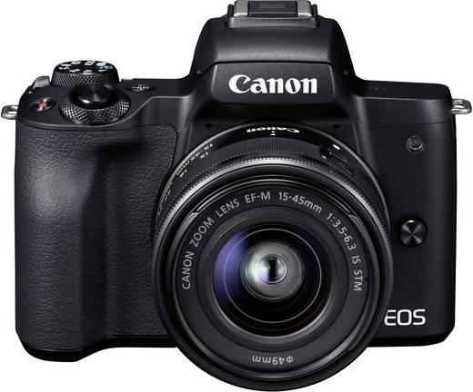 Systemkamera Canon EF-M 15-45 Kit inkl. EF-M 15-45 mm IS STM Gehäuse (Body), inkl. Akku, inkl. Standard-Zoomobjektiv 24