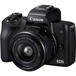 Systémový fotoaparát Canon EOS M50 EF-M 15-45 Kit, 24.1 Megapixel, čierna