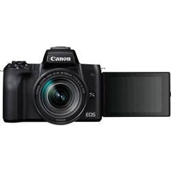 Systémový fotoaparát Canon EOS M50 EF-M 18-150 Kit, 24.1 Megapixel, čierna