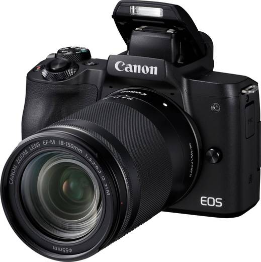 Systemkamera Canon EF-M 18-150 Kit inkl. EF-M 18-150 mm Gehäuse (Body), inkl. Akku, inkl. Standard-Zoomobjektiv 24.1 Mio
