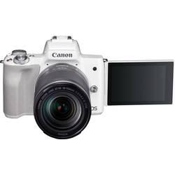 Systémový fotoaparát Canon EOS M50 EF-M 18-150 Kit, 24.1 Megapixel, biela