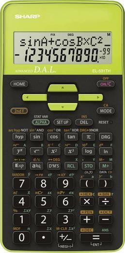 Schulrechner Sharp EL-531TH Grün Display (Stellen): 10 batteriebetrieben (B x H x T) 80 x 15 x 161 mm