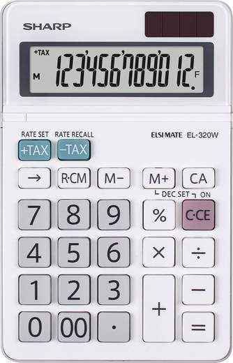 Tischrechner Sharp EL-320 W Weiß Display (Stellen): 12 solarbetrieben, batteriebetrieben (B x H x T) 96 x 16 x 167 mm