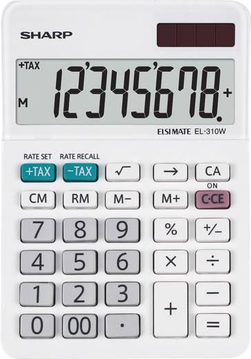 Tischrechner Sharp EL-310 W Weiß Display (Stellen): 8 solarbetrieben, batteriebetrieben (B x H x T) 85 x 26 x 122 mm