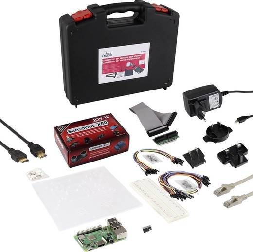Raspberry Pi® 3 Model B+ Sensorik Education Set 1 GB inkl. Netzteil, inkl. Software