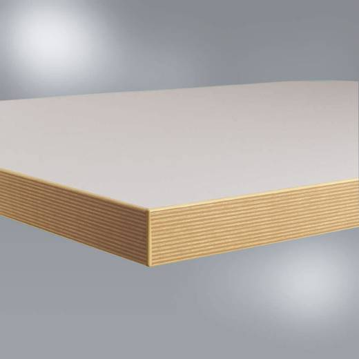 Manuflex ZB1865 Werkbankplatte Kunststoff lichtgrau 40 mm, 2000x800 mm Umleimer Dekor Multiplex (B x H x T) 2000 x 40 x 800 mm