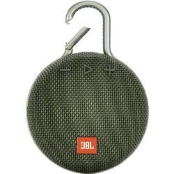 Bluetooth® reproduktor JBL Clip 3 hlasitý odposluch, outdoorová/ý, odolná/ý striekajúcej vode, zelená