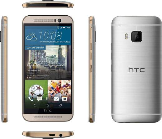HTC ONE (M9) Single-SIM LTE-Smartphone 12.7 cm (5 Zoll) 2 GHz Octa Core 32 GB 16 Mio. Pixel Android™ 6.0 Marshmallow Gol