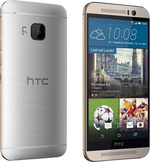 HTC ONE (M9) LTE-Smartphone 12.7 cm (5 Zoll) 2 GHz Octa Core 32 GB 16 Mio. Pixel Android™ 6.0 Marshmallow Gold, Silber