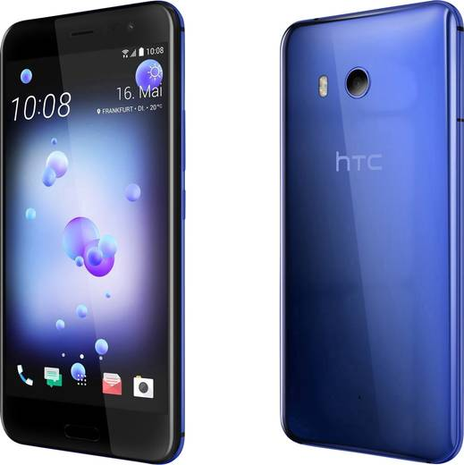 HTC U11 LTE-Smartphone 14 cm (5.5 Zoll) 2.45 GHz Octa Core 64 GB 12 Mio. Pixel Android™ 7.1 Nougat Dunkelblau