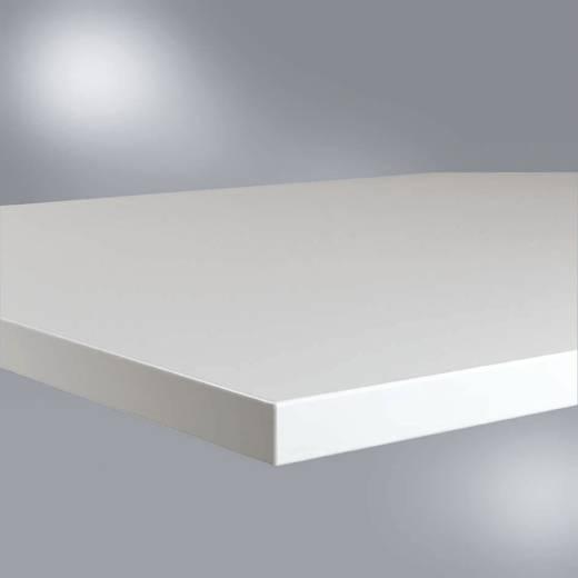 Manuflex ZB1723 Tischplatte 40, mit Linoleum-Belag lichtgrau 1500 x 600 x 22 mm (B x H x T) 1500 x 22 x 600 mm