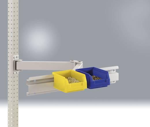 Manuflex ZB3910.7035 Boxenträger-Element 495mm breit mit Einfachgelenk RAL7035 lichtgrau