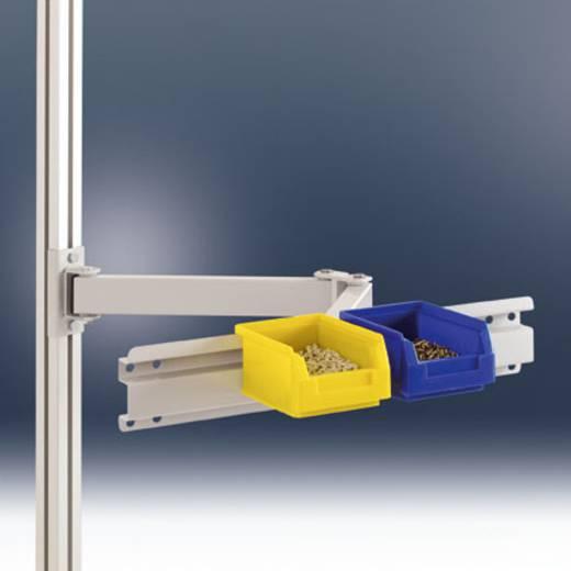 Manuflex ZB8250.7035 Boxenträger-Element 495mm breit mit Doppelgelenk F.ALU Tisch RAL7035 lichtgrau