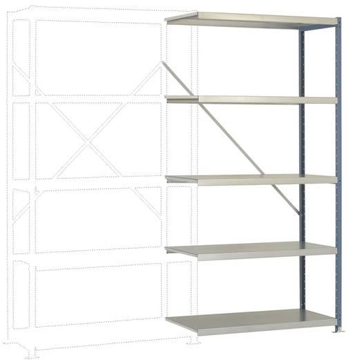 Fachbodenregal-Anbaumodul (B x H x T) 970 x 2000 x 500 mm Stahl pulverbeschichtet Licht-Grau Metallboden Manuflex RP1119