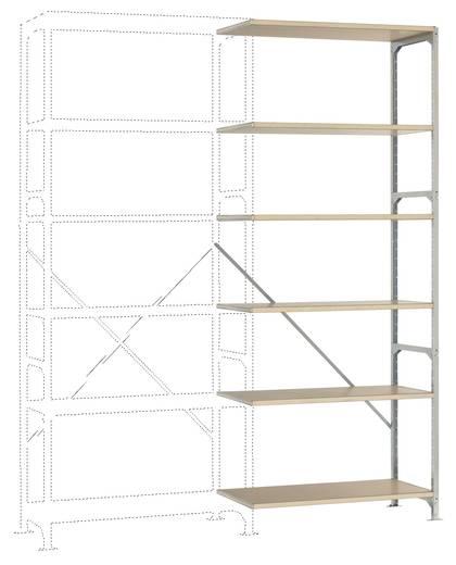Manuflex RM4187 Fachbodenregal-Anbaumodul (B x H x T) 970 x 2500 x 400 mm Stahl verzinkt Verzinkt Holzboden