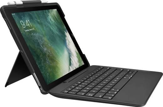 tablet tastatur mit bookcover logitech slim combo passend. Black Bedroom Furniture Sets. Home Design Ideas