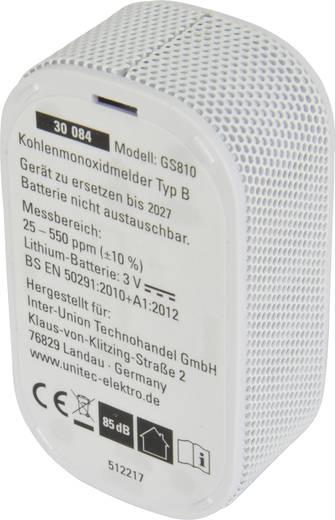 unitec 30084 kohlenmonoxid melder inkl 10 jahres batterie batteriebetrieben detektiert. Black Bedroom Furniture Sets. Home Design Ideas