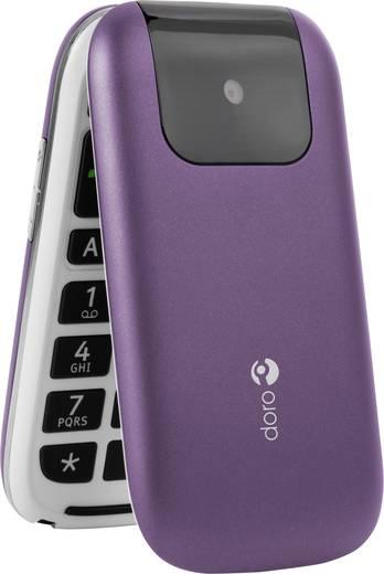 doro phoneeasy 613 senioren klapp handy mit ladestation sos taste violett wei kaufen. Black Bedroom Furniture Sets. Home Design Ideas