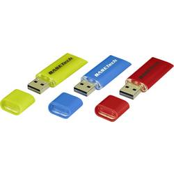 USB flash disk Basetech USB-Stick-16GB BT-1677743, 16 GB, USB 2.0, žltá, modrá, červená