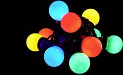 LED světelný řetěz s motivem, vánoční koule Polarlite PL-8391410, vnitřní/venkovní, přes napájecí zdroj do zásuvky, LED 10, RGB, 5 m