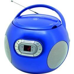 FM rádio s CD prehrávačom SoundMaster SCD2120BL, AUX, CD, modrá