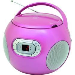 FM rádio s CD prehrávačom SoundMaster SCD2120PI, AUX, CD, ružová
