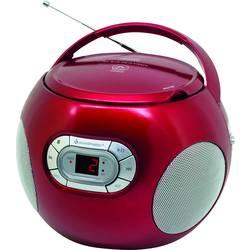 FM rádio s CD prehrávačom SoundMaster SCD2120RO, AUX, CD, červená