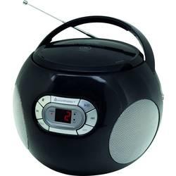 FM rádio s CD prehrávačom SoundMaster SCD2120SW, AUX, CD, čierna
