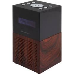 FM radiobudík SoundMaster UR210BR, USB, FM, hnědá