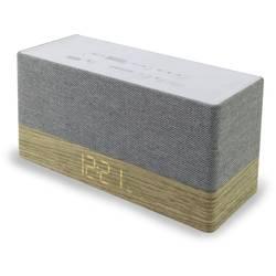 FM rádiobudík SoundMaster UR620, AUX, Bluetooth, drevo, sivá