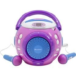 Detský CD prehrávač SoundMaster KCD1600PI CD vr. karaoke, ružová