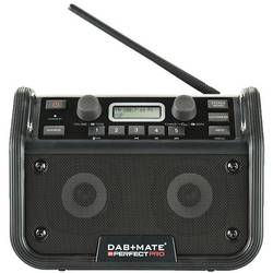 FM outdoorové rádio PerfectPro DAB+mate, AUX, Bluetooth, UKW, čierna