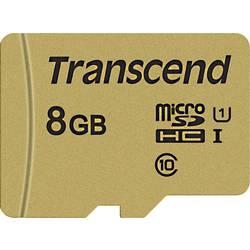 Pamäťová karta micro SDHC, 8 GB, Transcend Premium 500S, Class 10, UHS-I, UHS-Class 1, vr. SD adaptéru