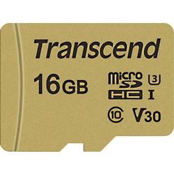 Pamäťová karta micro SDHC, 16 GB, Transcend Premium 500S, Class 10, UHS-I, UHS-Class 3, v30 Video Speed Class, vr. SD adaptéru