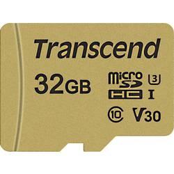 Pamäťová karta micro SDHC, 32 GB, Transcend Premium 500S, Class 10, UHS-I, UHS-Class 3, v30 Video Speed Class, vr. SD adaptéru