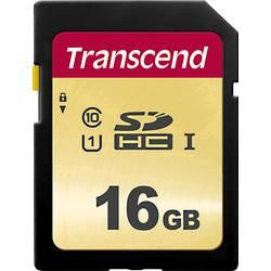 Pamäťová karta SDHC, 16 GB, Transcend Premium 500S, Class 10, UHS-I, UHS-Class 1