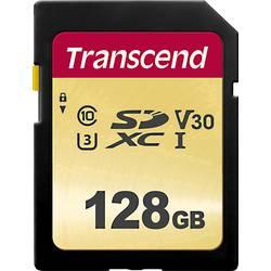 SDXC karta, 128 GB, Transcend Premium 500S, Class 10, UHS-I, UHS-Class 3, v30 Video Speed Class