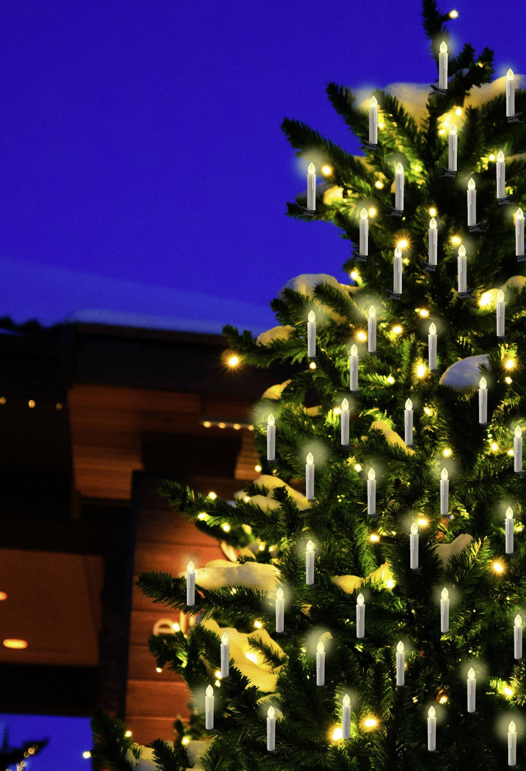 Lichterkette Weihnachtsbaum Außen.Polarlite Funk Weihnachtsbaum Beleuchtung Außen Batteriebetrieben 20 St Led Warm Weiß
