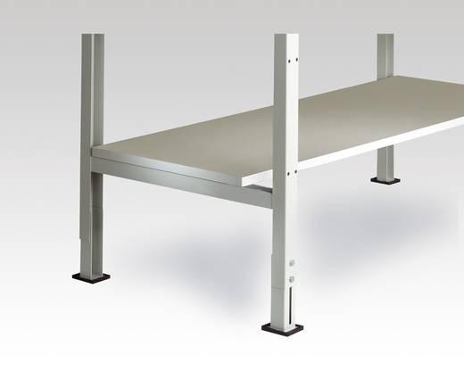 Manuflex LZ3681 Zwischenboden Melamin lichtgrau leitfähig Ableitwiderstand nach EN100015 2000x 500x25mm, mit Unterzug für UNIVERSAL 2000x 800mm