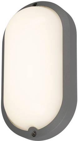 Venkovní nástěnné LED osvětlení s PIR detektorem SLV 229955, 23 W, antracitová, antracitová