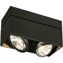 Stropné svetlo halogénová žiarovka SLV Kardamod 117130, G53, 100 W, čierna (matná)