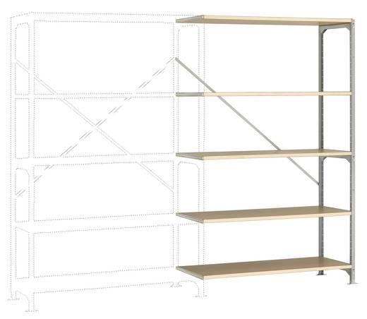 Fachbodenregal-Anbaumodul (B x H x T) 1220 x 2000 x 800 mm Stahl verzinkt Verzinkt Holzboden Manuflex RM2138
