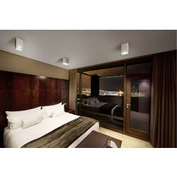 Stropné svetlo halogénová žiarovka, LED SLV Plastra 148081, GU10, 17.5 W, biela