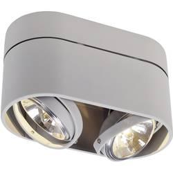 Stropné svetlo halogénová žiarovka SLV Kardamod 117194, G53, 100 W, striebornosivá