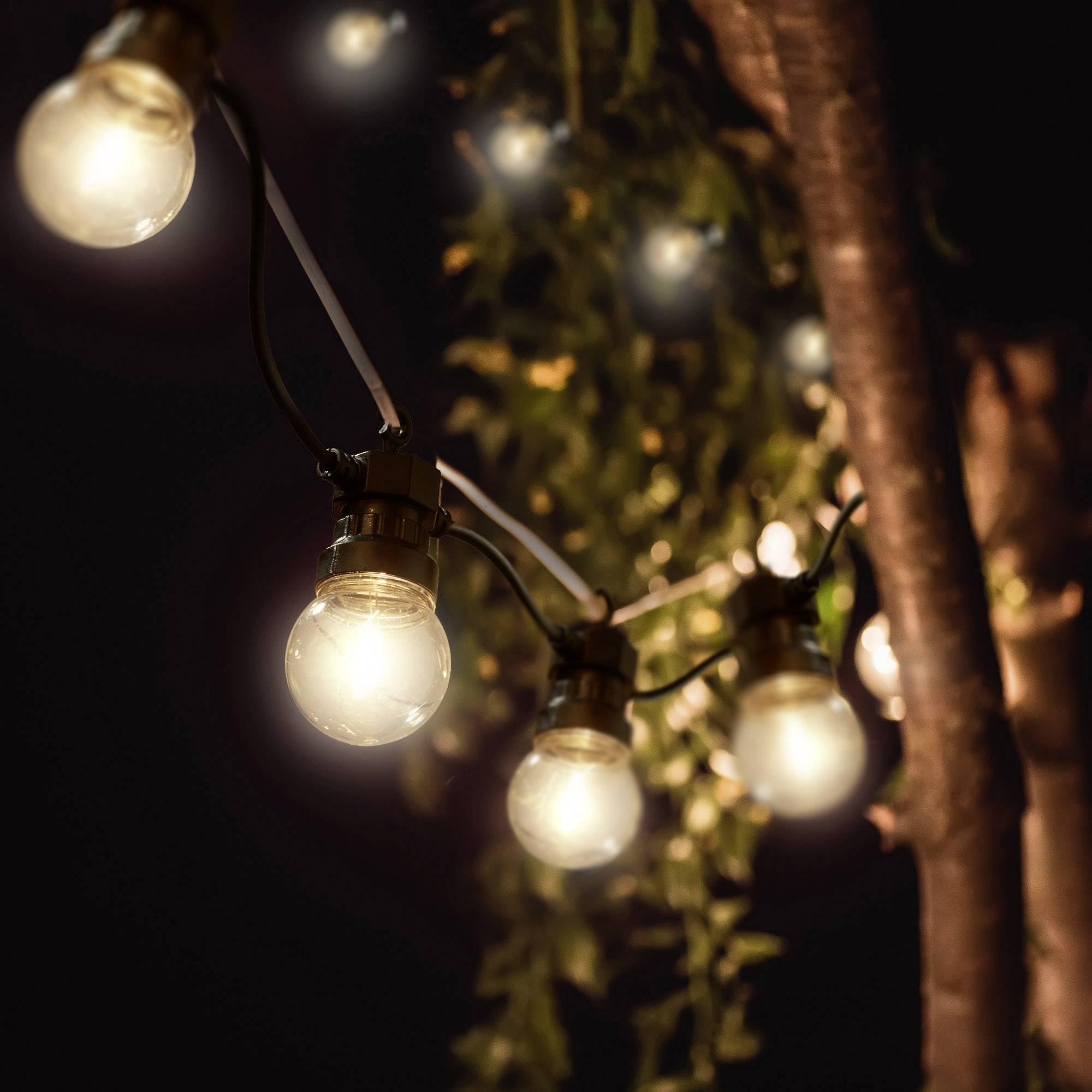 Weihnachtsbeleuchtung Aussen Motive.Polarlite Pl 8401700 Motiv Lichterkette Kugeln Innen Außen Netzbetrieben 10 St Led Warm Weiß Beleuchtete Länge 5 M