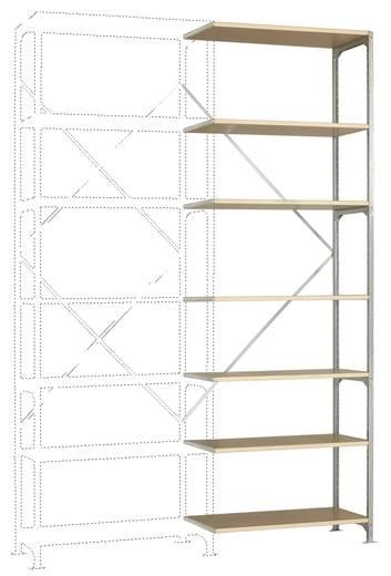 Fachbodenregal-Anbaumodul (B x H x T) 970 x 3000 x 300 mm Stahl verzinkt Verzinkt Holzboden Manuflex RM2243