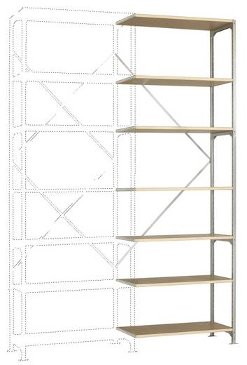 Fachbodenregal-Anbaumodul (B x H x T) 970 x 3000 x 400 mm Stahl verzinkt Verzinkt Holzboden Manuflex RB2247