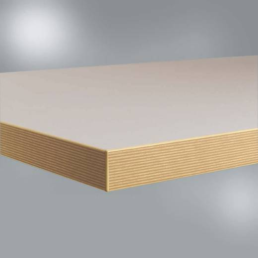 Manuflex ZB1944 WB-Platte Linoleum-Belag lichtgrau 1750x800x40mm (B x H x T) 1750 x 40 x 800 mm