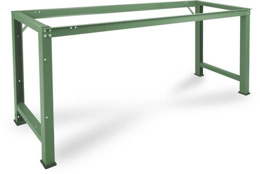 Manuflex WP3020.6011 Grund-Werkbank PROFI,1750x700 mm ohne Platte RAL6011 resedagrün (B x H x T) 1750 x 800 x 700 mm