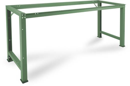 Manuflex WP3030.0001 Grund-Werkbank PROFI,2000x700 mm ohne Platte KRIEG Hausfarbe graugrün (B x H x T) 2000 x 800 x 700